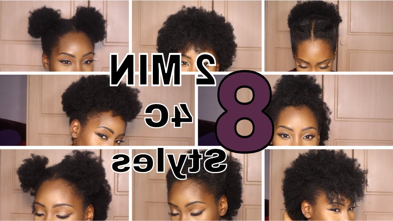 8 Super Quick Hairstyles On Short 4C Hair - Youtube throughout 4C Short Hairstyles