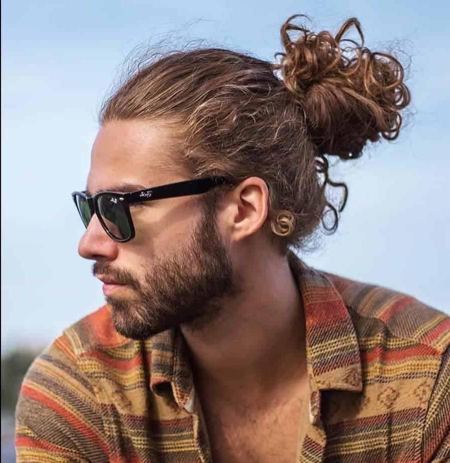 80 Best Man Bun Haircuts For The Stylish Guys [November. 2018] inside Curly Q Haircuts