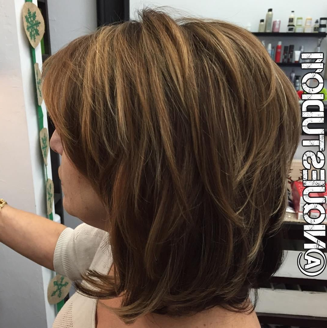 80 Best Modern Haircuts And Hairstyles For Women Over 50 In 2018 Intended For Short To Mid Length Layered Hairstyles (Gallery 1 of 25)