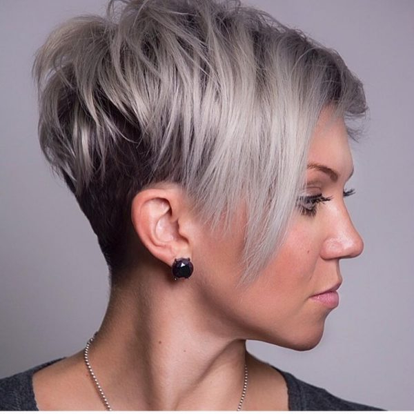 80 Best Pixie Cut Hairstyles – Trending Pixie Cuts For Women 2018 With Two Tone Stacked Pixie Bob Haircuts (View 19 of 25)