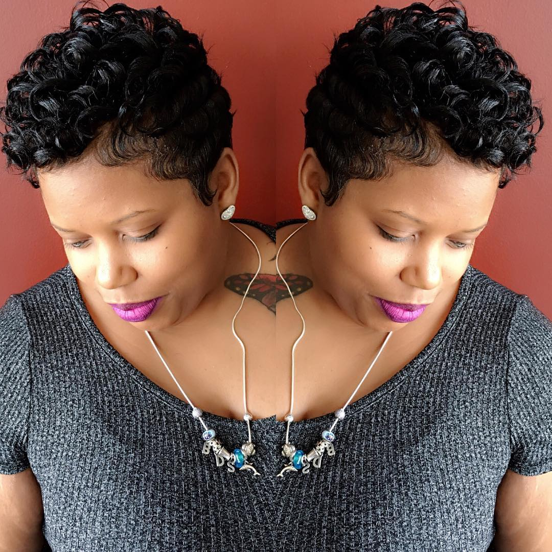 80 Cool Short Haircuts For Black Women – Best In 2016 Intended For Curly Short Hairstyles For Black Women (Gallery 25 of 25)