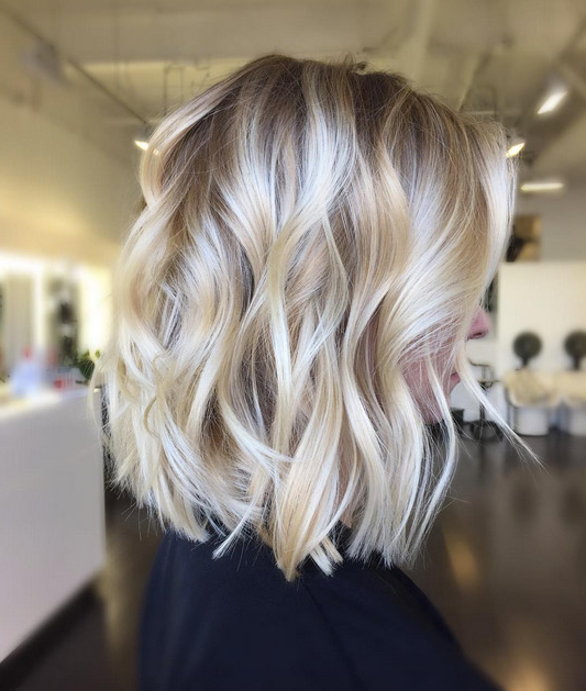 80 Fabulous Wavy Bob Hairstyles - Style Skinner intended for Ash Blonde Bob Hairstyles With Feathered Layers