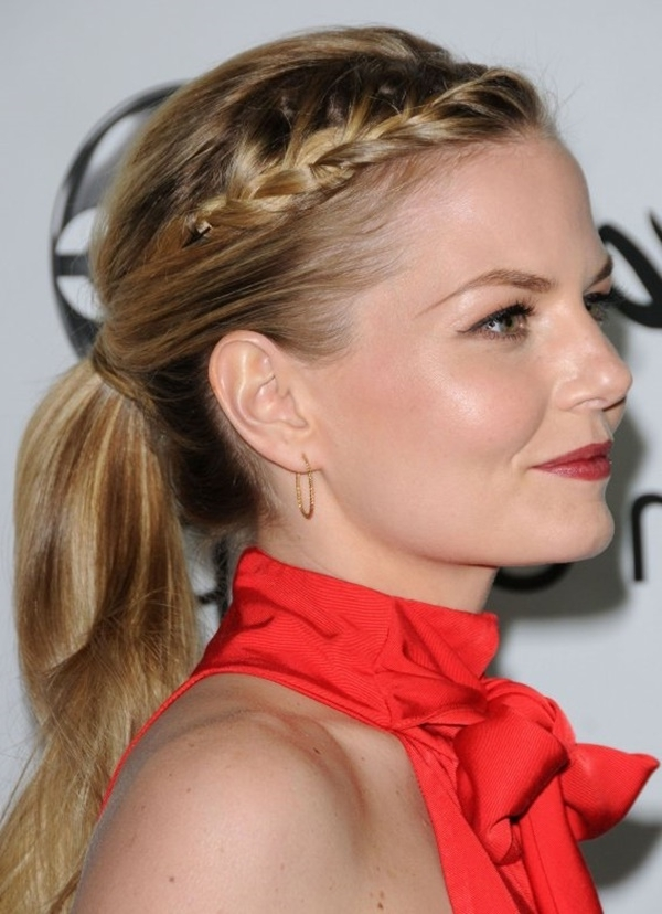 80 Lovely Women Ponytail Hairstyles For Long Hair throughout Blonde Braided And Twisted Ponytails