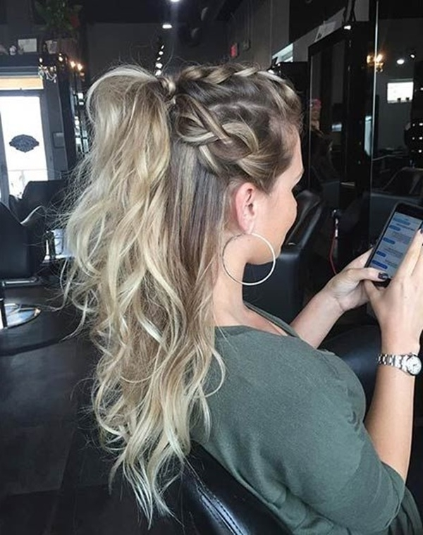 80 Lovely Women Ponytail Hairstyles For Long Hair With Regard To Braided Crown Pony Hairstyles (View 19 of 25)