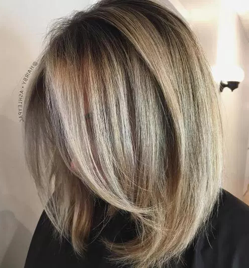80 Medium Length Haircuts For Thick Hair That You'll Love - Page 52 intended for Inverted Bob Hairstyles With Swoopy Layers
