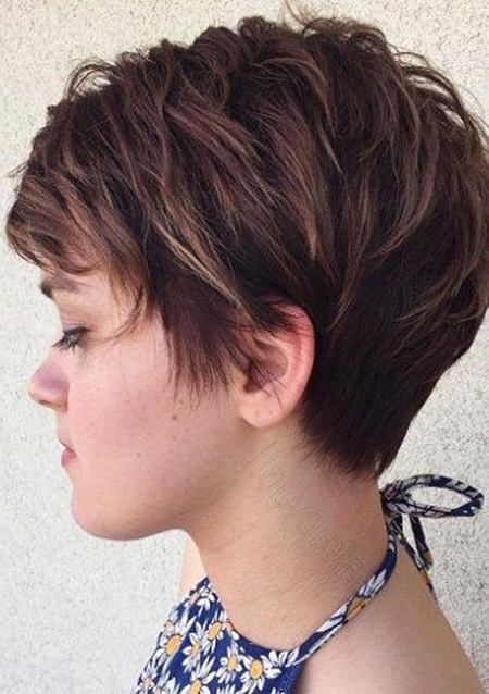 80 Popular Short Hairstyles For Women 2018 – Pretty Designs Within Layered Tapered Pixie Hairstyles For Thick Hair (Gallery 25 of 25)