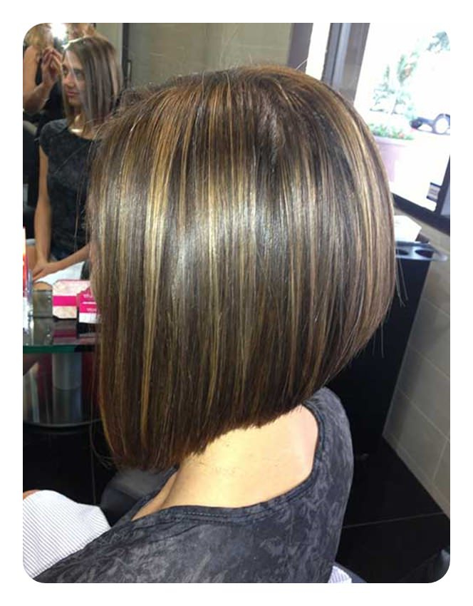 83 Popular Inverted Bob Hairstyles For This Season throughout Inverted Brunette Bob Hairstyles With Feathered Highlights
