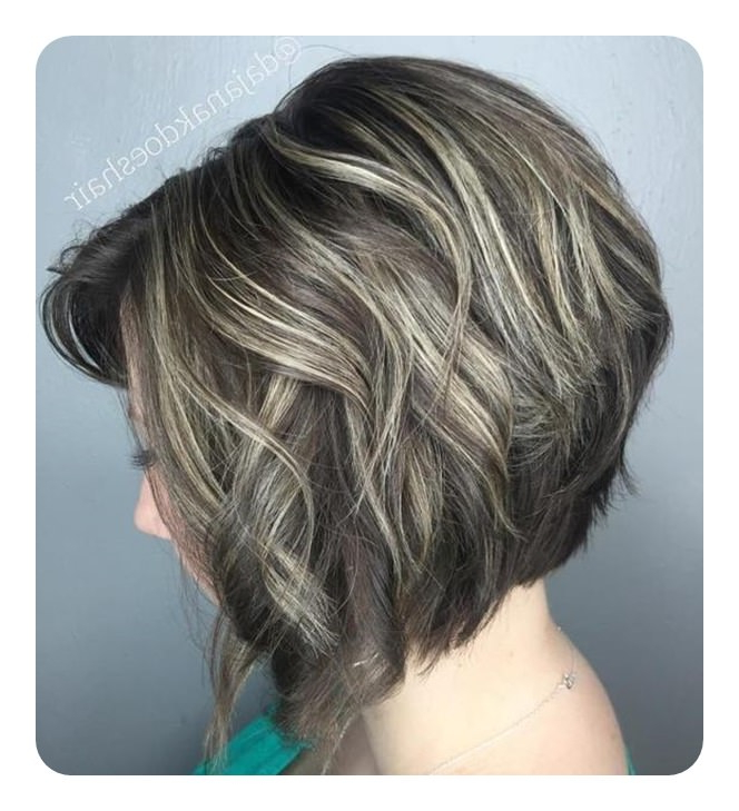 83 Popular Inverted Bob Hairstyles For This Season With Caramel Blonde Rounded Layered Bob Hairstyles (View 14 of 25)