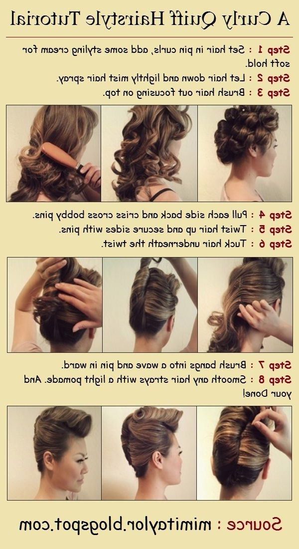 9 Retro Updos That Will Bring Out Your Inner Pin Up Girl For Twisted Retro Ponytail Updo Hairstyles (View 15 of 25)