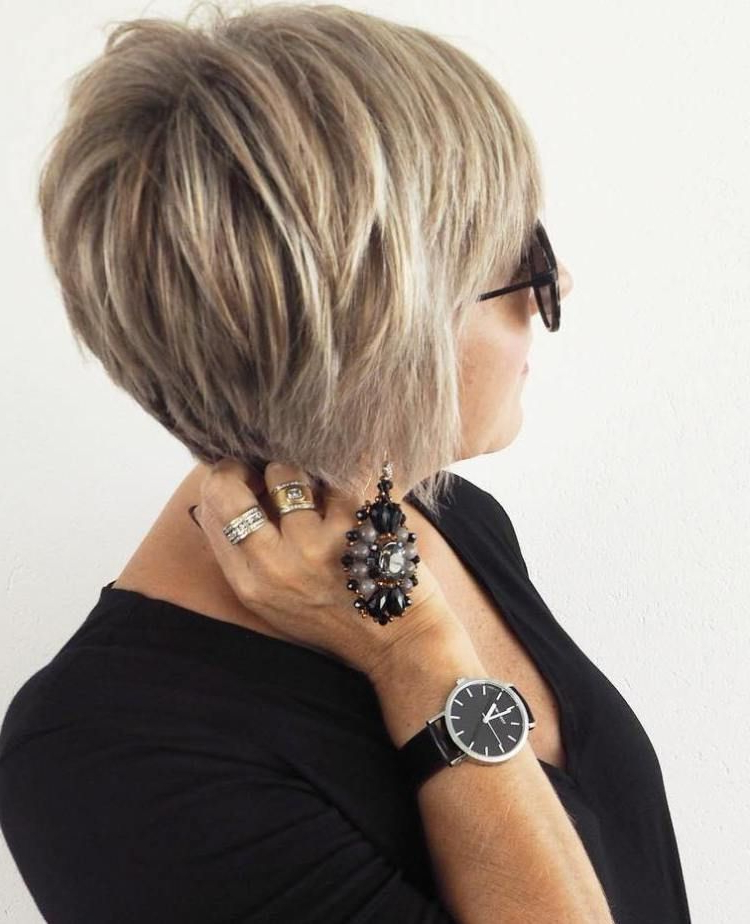 90 Classy And Simple Short Hairstyles For Women Over 50   Blonde In Black And Ash Blonde Pixie Bob Hairstyles (View 18 of 25)