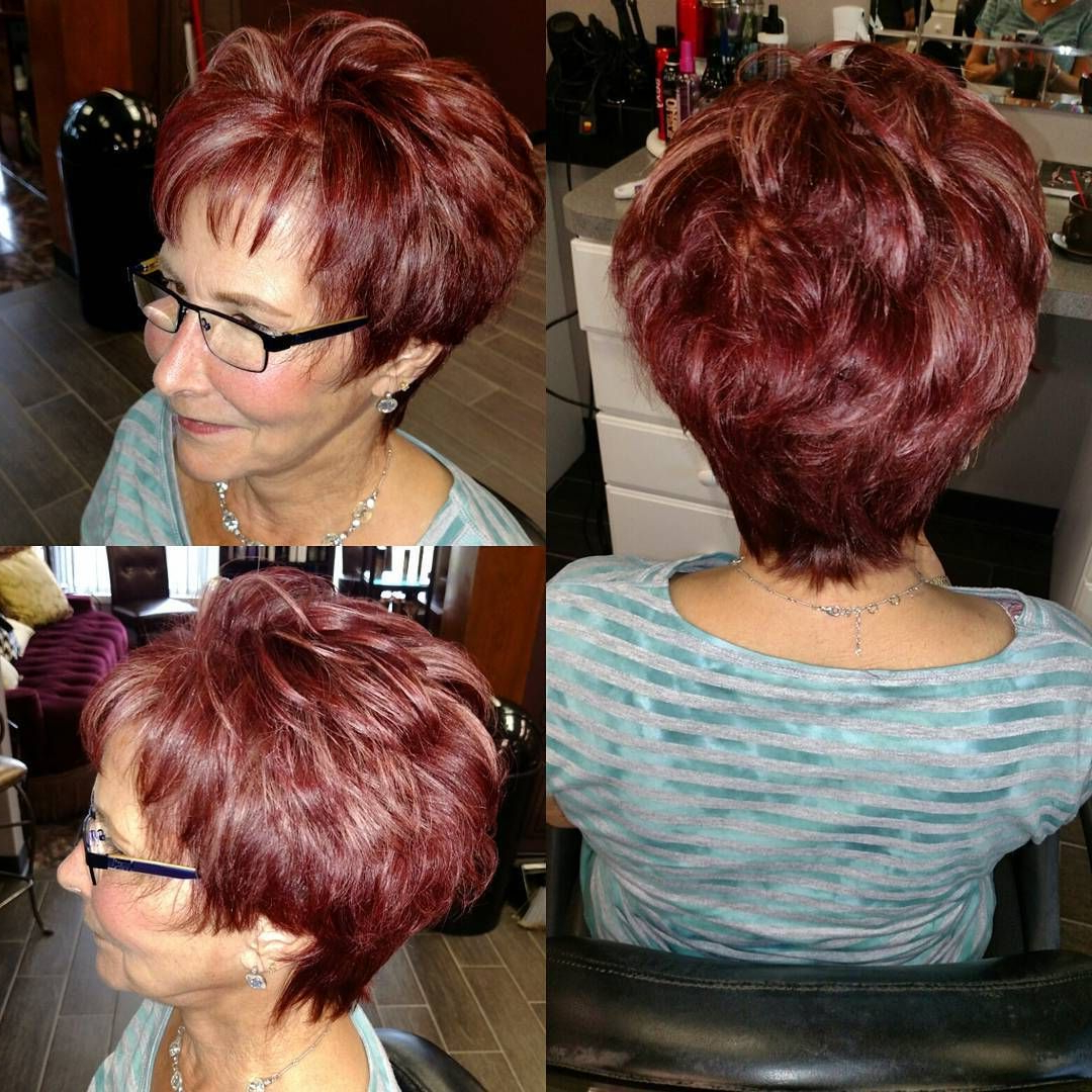 90 Classy And Simple Short Hairstyles For Women Over 50 | Hair With Burgundy Short Hairstyles (View 5 of 25)
