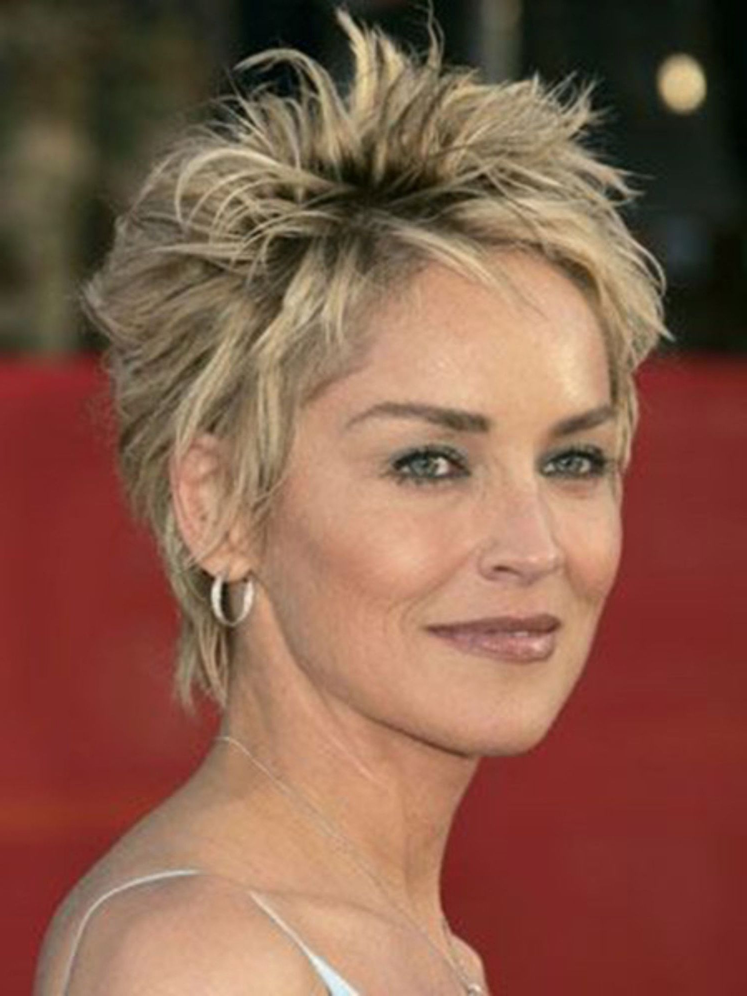 90 Classy And Simple Short Hairstyles For Women Over 50 | Haircuts Regarding Sharon Stone Short Haircuts (View 22 of 25)