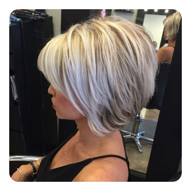 92 Layered Inverted Bob Hairstyles That You Should Try – Style Easily In Short Blonde Inverted Bob Haircuts (View 8 of 25)