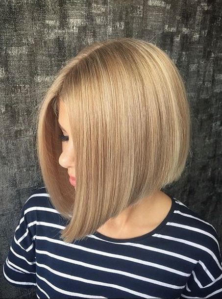 A Line Bob Hairstyles | Cute Hairstyles In 2018 | Pinterest | Hair Regarding Butter Blonde A Line Bob Hairstyles (View 6 of 25)