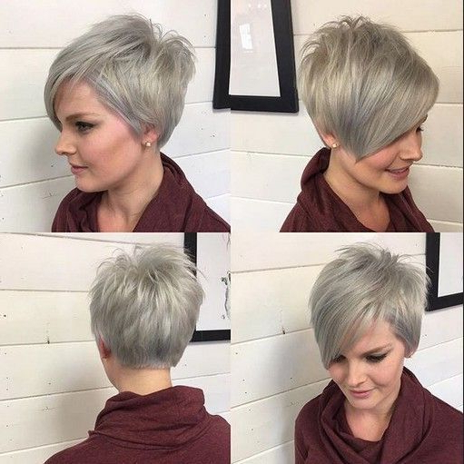 A Line Pixie Haircut – Ombre, Balayage Hairstyles For Short Fine Throughout Bronde Balayage Pixie Haircuts With V Cut Nape (View 19 of 25)