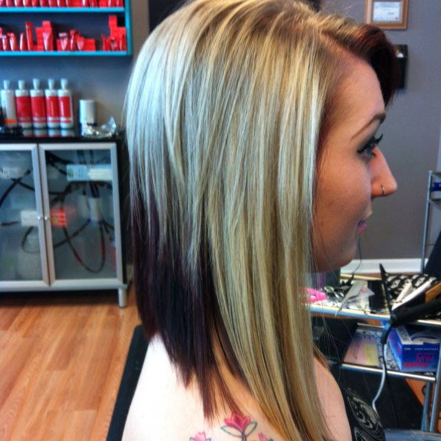 Added Extensions To The Sides To Create An Awesome Angled Bob Regarding Angled Bob Hairstyles For Thick Tresses (View 17 of 25)