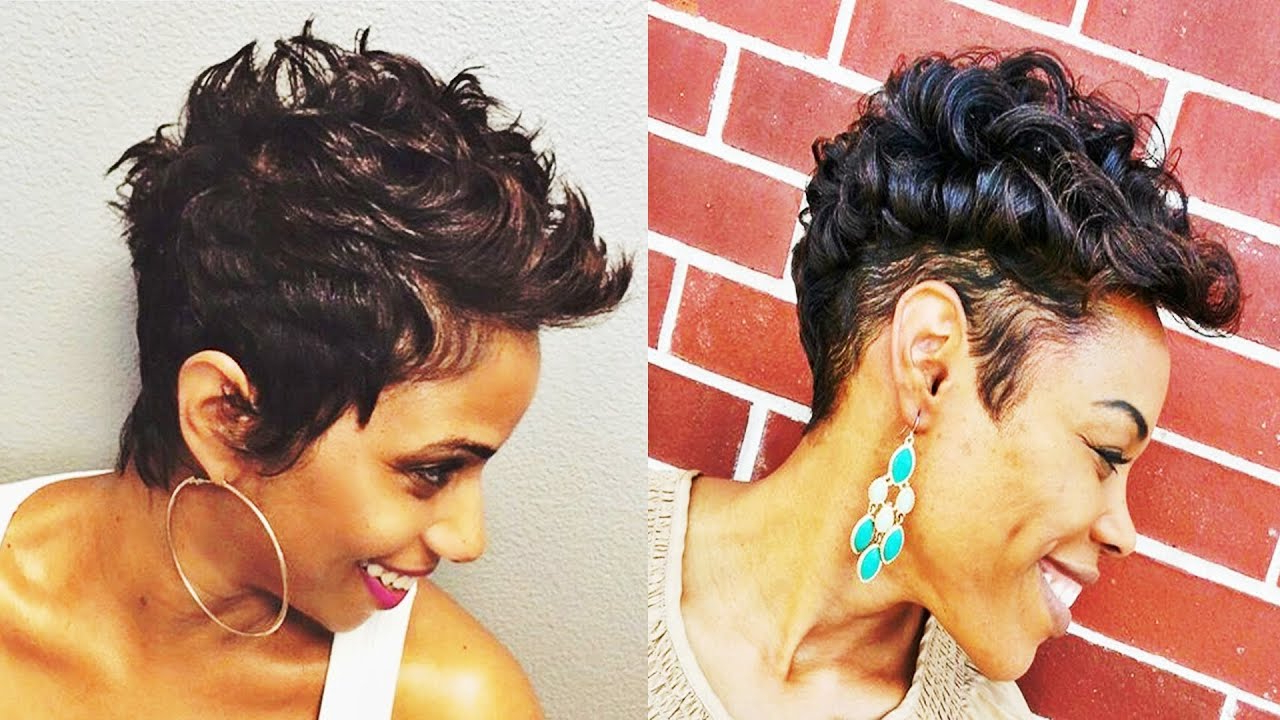 Adorable Short Hairstyles For African American Women – Youtube Within Short Hairstyles For African American Women With Thin Hair (Gallery 16 of 25)