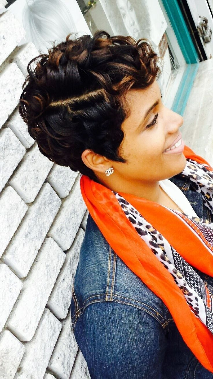 African American Short Hairstyles (4) – Glamorous Hairstyles In Curly Black Tapered Pixie Hairstyles (Gallery 16 of 25)