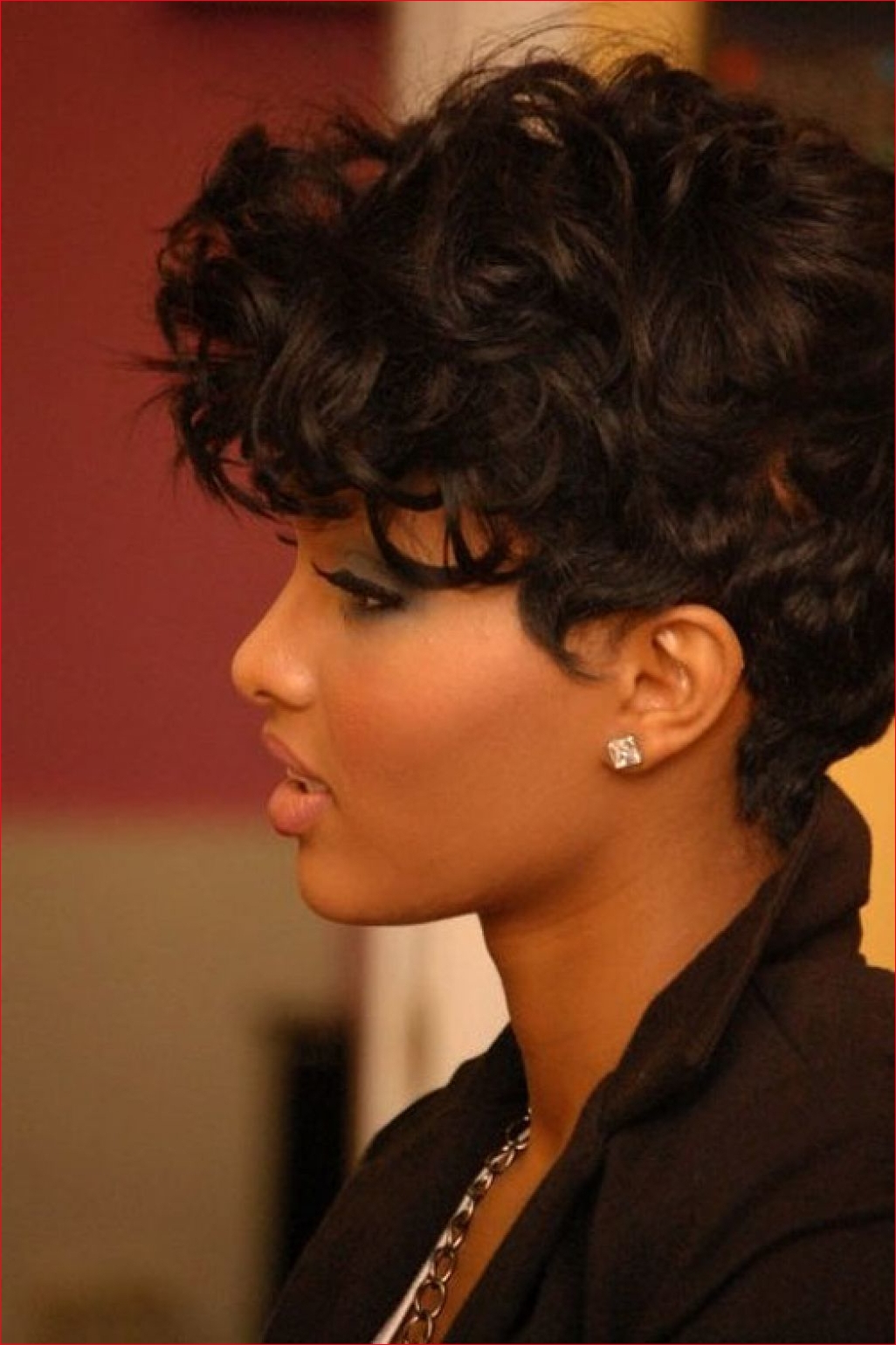 African American Short Hairstyles For Round Faces » Best Easy Hairstyles Pertaining To Short Hairstyles For Black Round Faces (View 11 of 25)