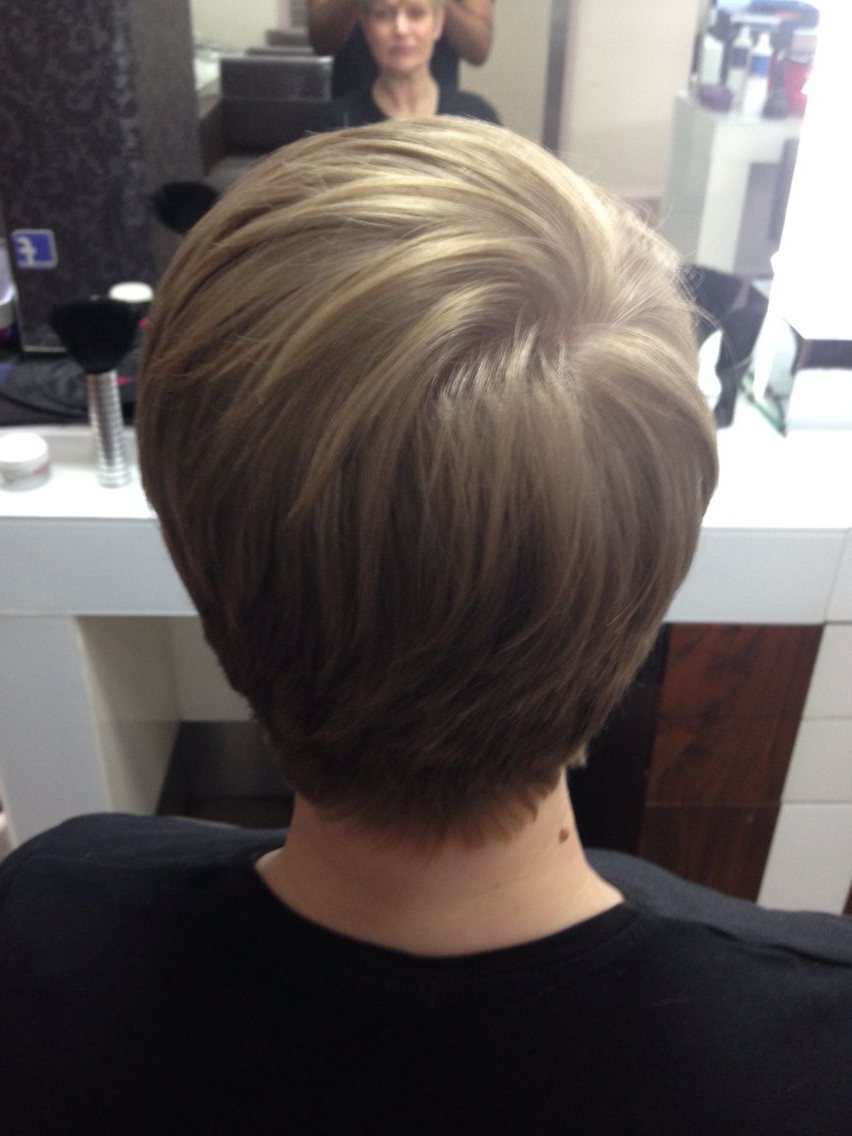 After Photo Of A Short Graduated Haircut, Cut Around Her Ears And Throughout Short Hairstyles Cut Around The Ears (Gallery 1 of 25)