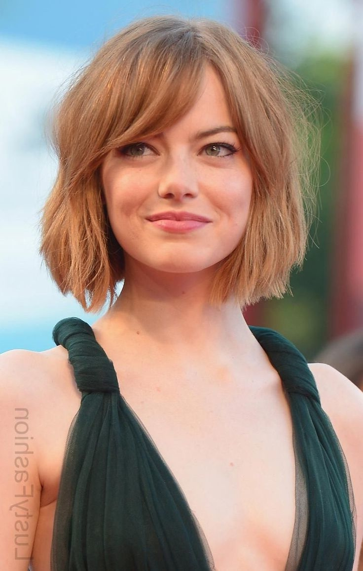 Amazing Hairstyles With Side Swept Bangs 2018. – Best Short Hairstyles Pertaining To Side Swept Short Hairstyles (Gallery 10 of 25)