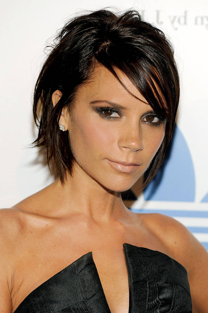Amazing Victoria Beckham Hairstyles Pertaining To Posh Spice Short Hairstyles (View 3 of 25)