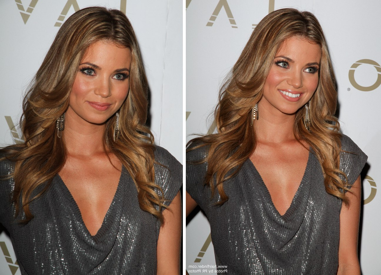 Amber Lancaster's Long Hairstyle For A Pointy Chin | Sides Curled In Short Hairstyles For Pointy Chins (Gallery 17 of 25)