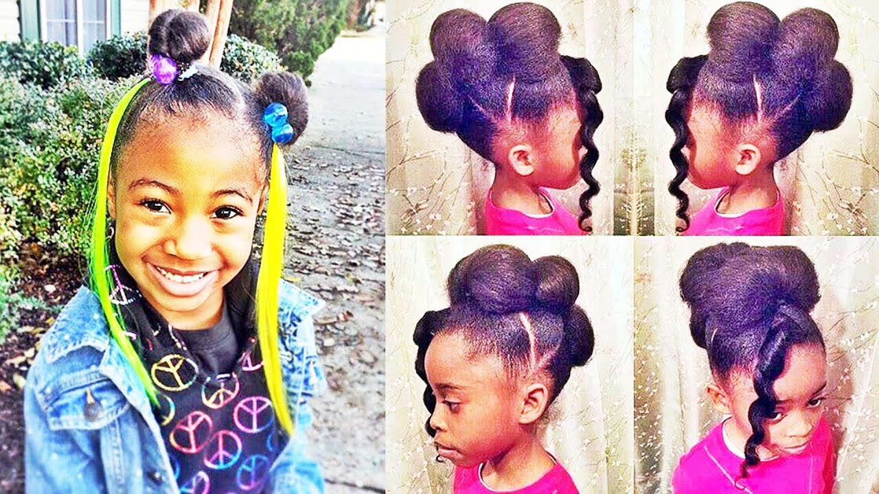 American African Little Girls Hairstyles For Natural Hair | Hair With Regard To Black Little Girl Short Hairstyles (View 14 of 25)
