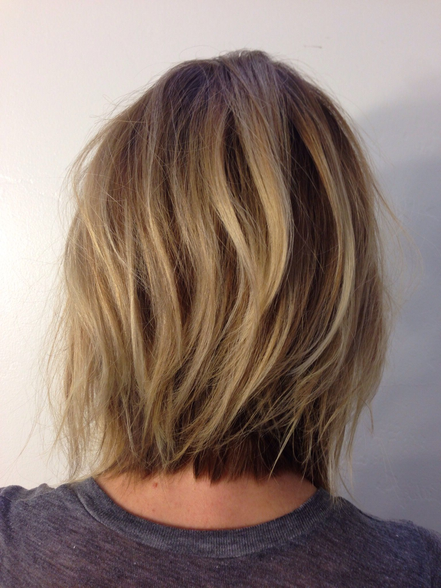 Andreamillerhair  Neck Length Layers … | Hair Cut In 2018… With Regard To Nape Length Wavy Ash Brown Bob Hairstyles (Gallery 4 of 25)