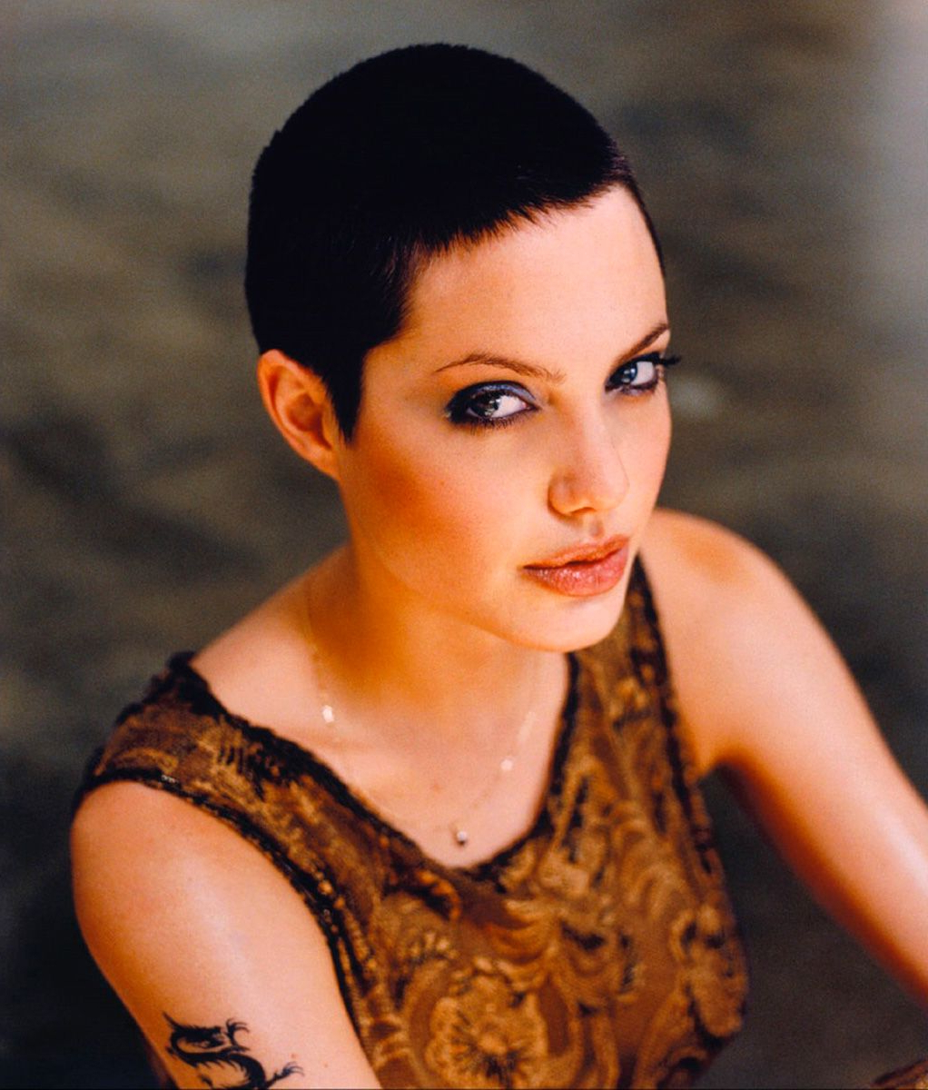 Angelina Jolie Photographednaomi Kaltman For The Los Angeles Inside Angelina Jolie Short Hairstyles (View 9 of 25)