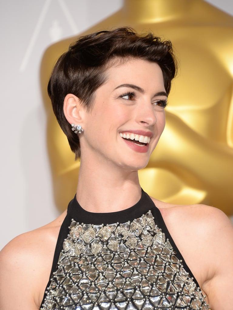 Anne Hathaway Best Pixie Hairstyles | Popsugar Beauty Within Anne Hathaway Short Hairstyles (Gallery 16 of 25)