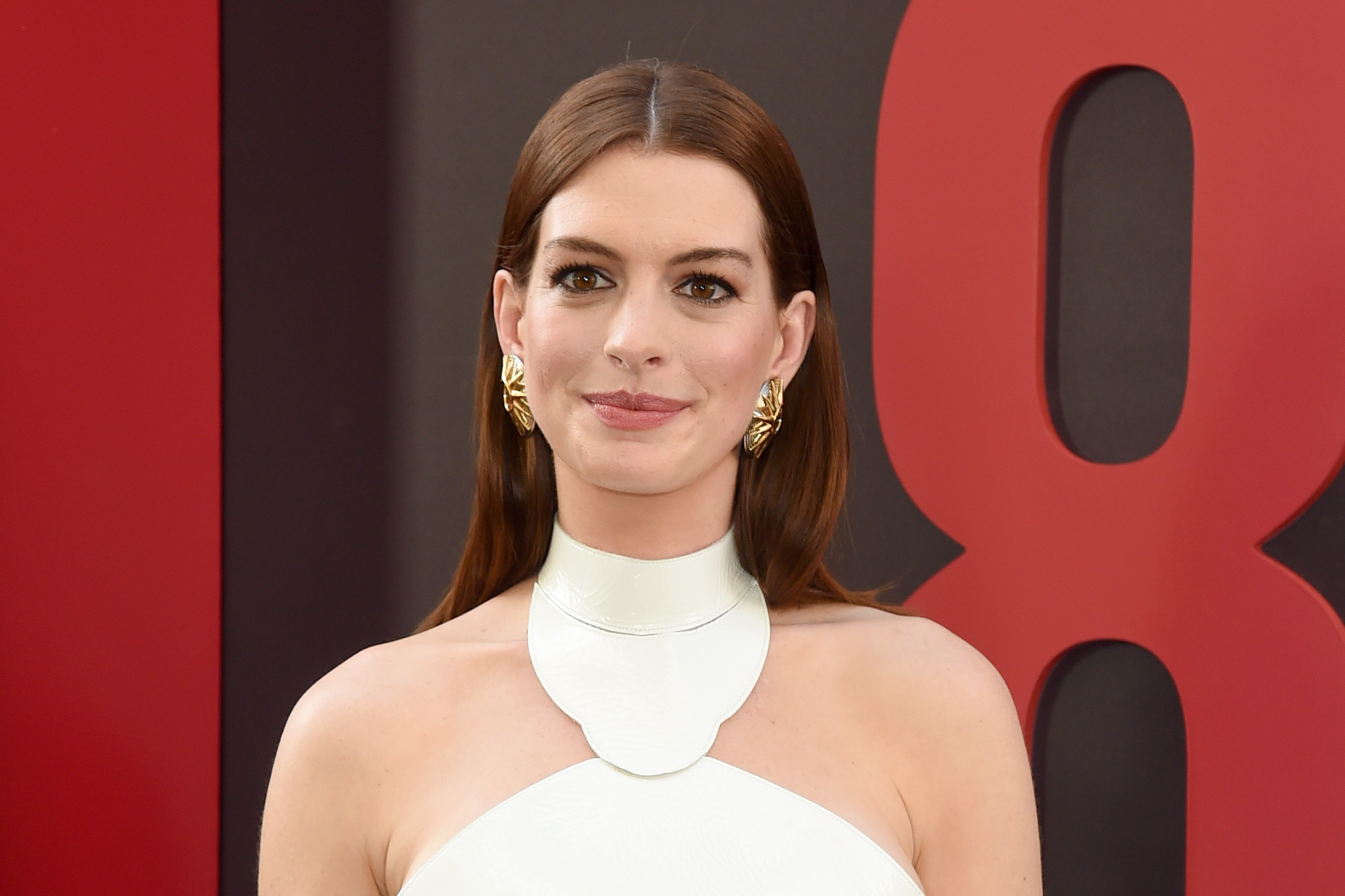 Anne Hathaway Dyes Hair Strawberry Blonde For Her Newest Role – Allure Pertaining To Anne Hathaway Short Haircuts (View 4 of 25)