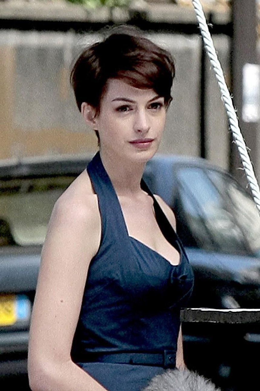 Anne Hathaway One Day Short Hair Hair | Short Hair | Pinterest Throughout Anne Hathaway Short Haircuts (View 8 of 25)