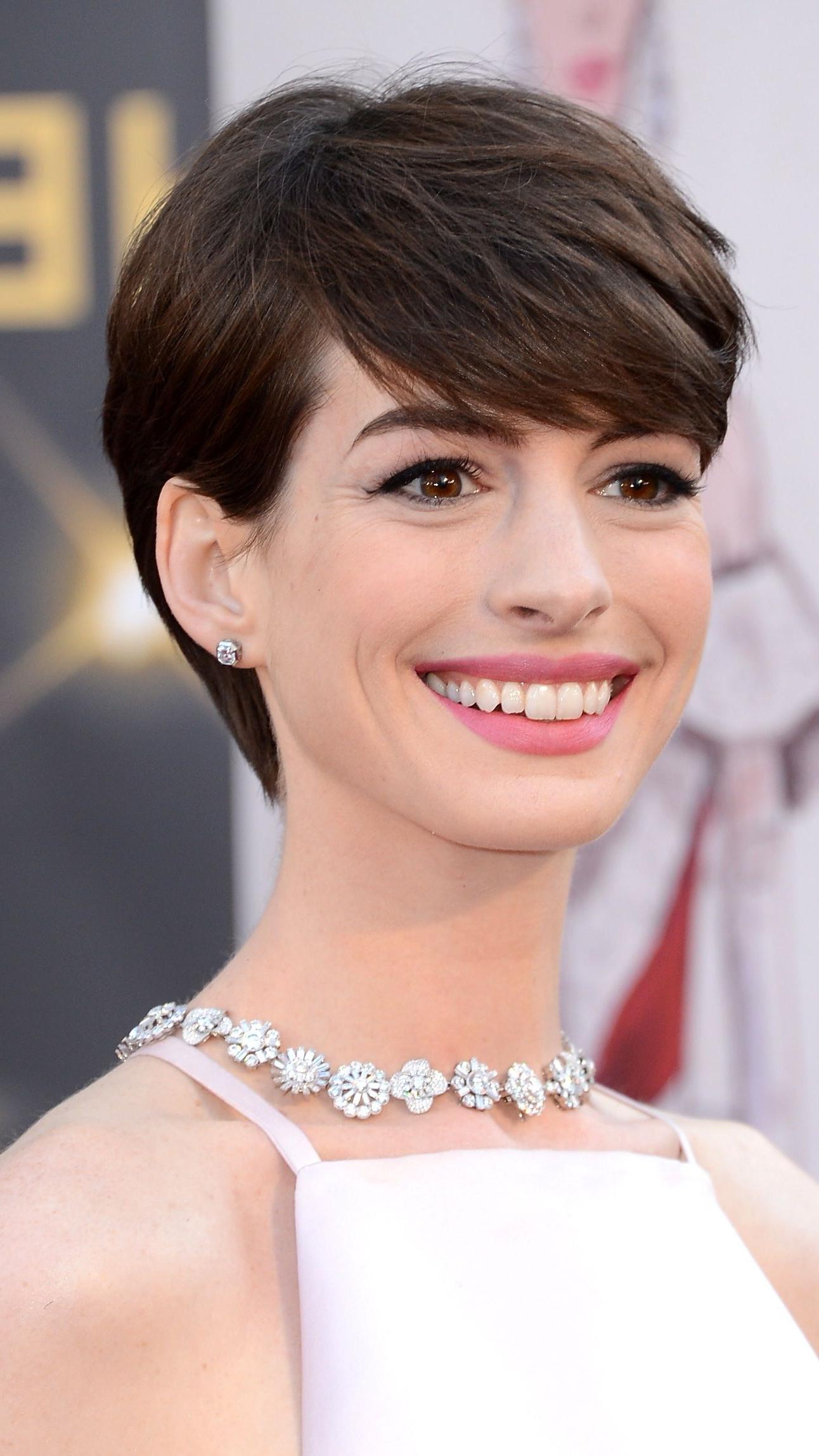 Anne Hathaway Pixie | Haircut | Pinterest | Hair, Short Hair Styles With Anne Hathaway Short Haircuts (View 10 of 25)