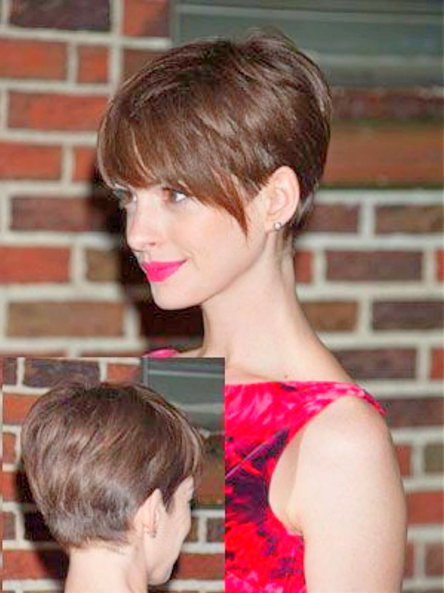 Anne Hathaway With Pixie Haircut – 10 Best Anne Hathaway Short With Anne Hathaway Short Haircuts (Gallery 5 of 25)