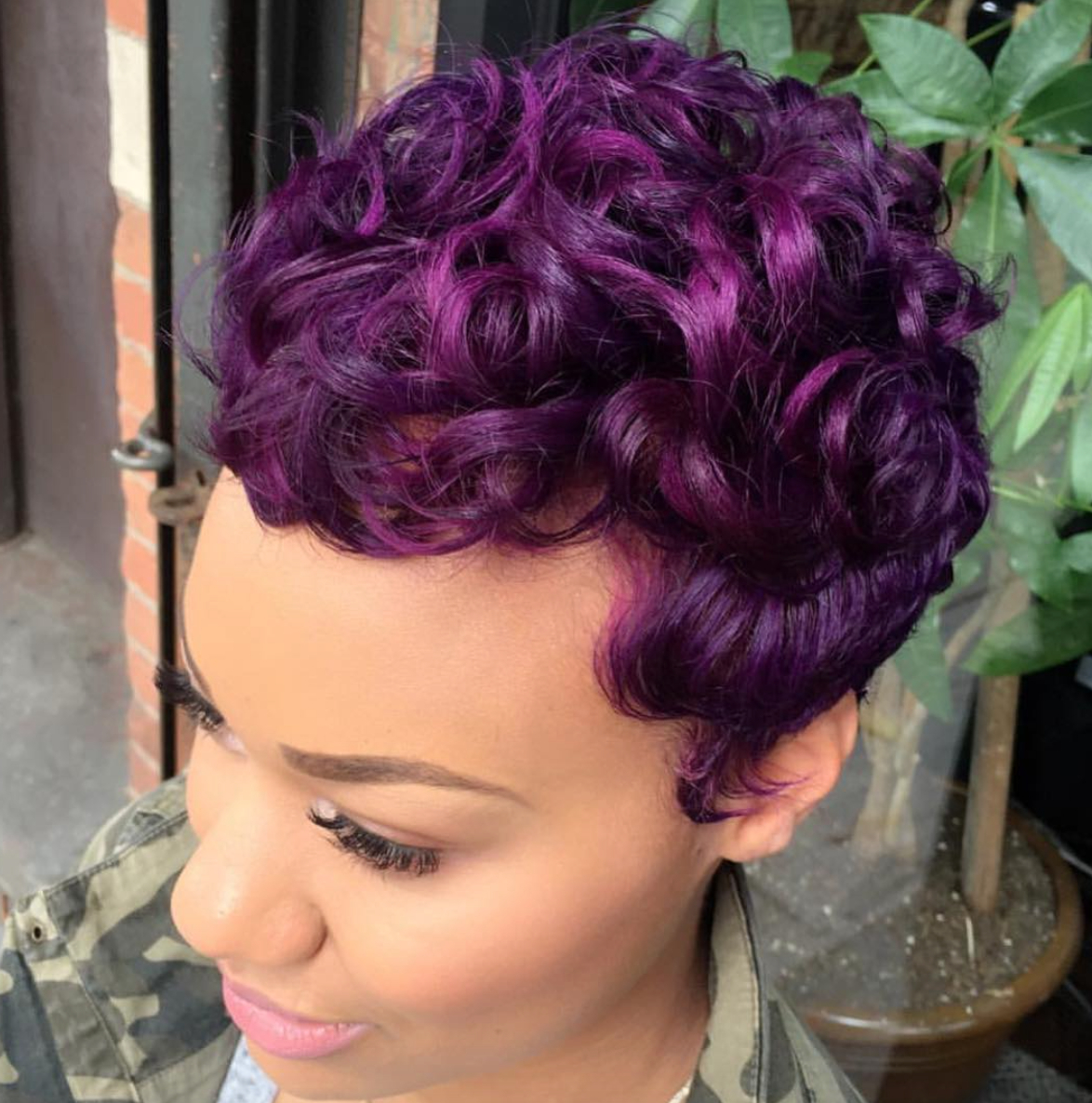 Another Purple Win! Styled@salonchristol – Http://community Intended For Purple And Black Short Hairstyles (View 5 of 25)