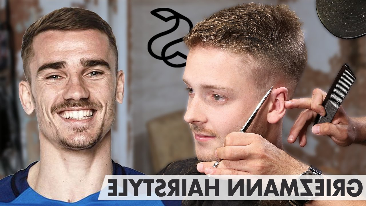 Antoine Griezmann Hairstyle – Short Sporty Side Swept – Men Hair Pertaining To Sporty Short Haircuts (Gallery 23 of 25)