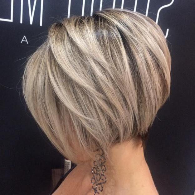 Ash Blonde Bob With Feathered Layers | Short Hairstyles | Pinterest Regarding Ash Blonde Bob Hairstyles With Feathered Layers (View 2 of 25)