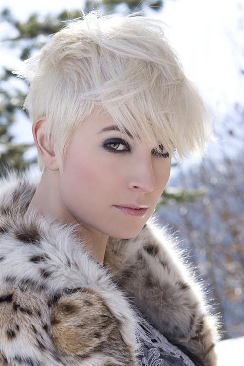 Ash Blonde Pixie Haircut | Styles Weekly Regarding Black And Ash Blonde Pixie Bob Hairstyles (Gallery 22 of 25)