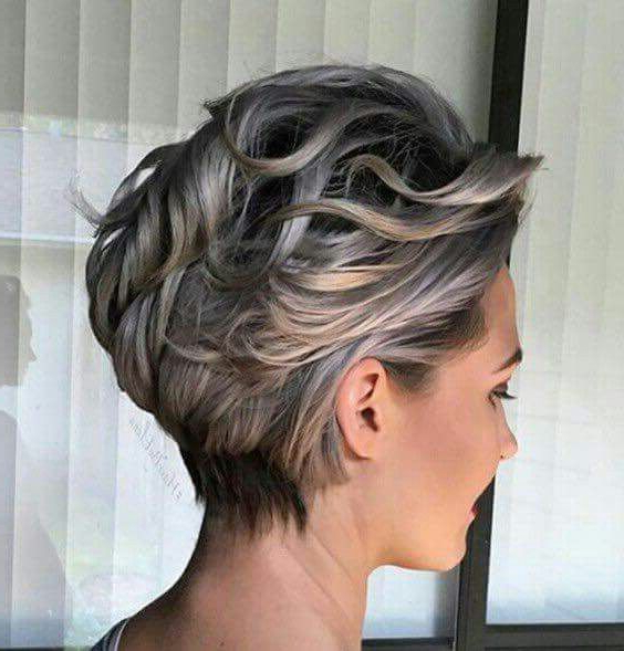 Ash Blonde Short Wave Messy Haircut Pixie | Shadow Roots | Pinterest Throughout Long Messy Ash Blonde Pixie Haircuts (View 10 of 25)