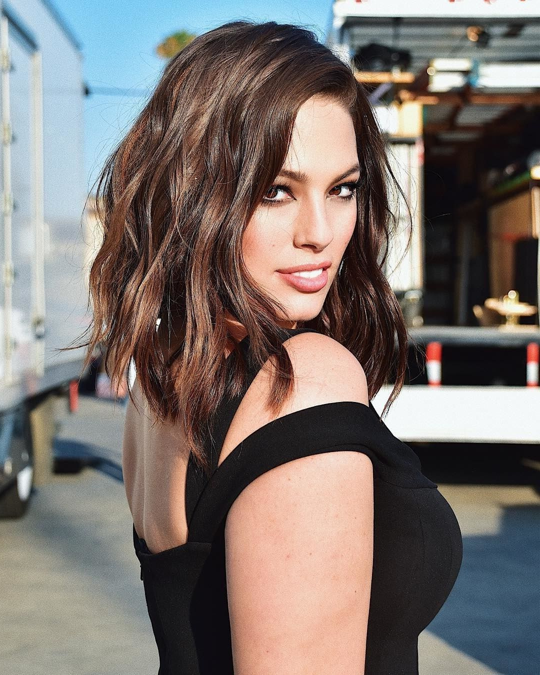 Ashley Graham News, Tips & Guides | Glamour | Hair | Pinterest Inside Short Hairstyles For Curvy Women (Gallery 22 of 25)
