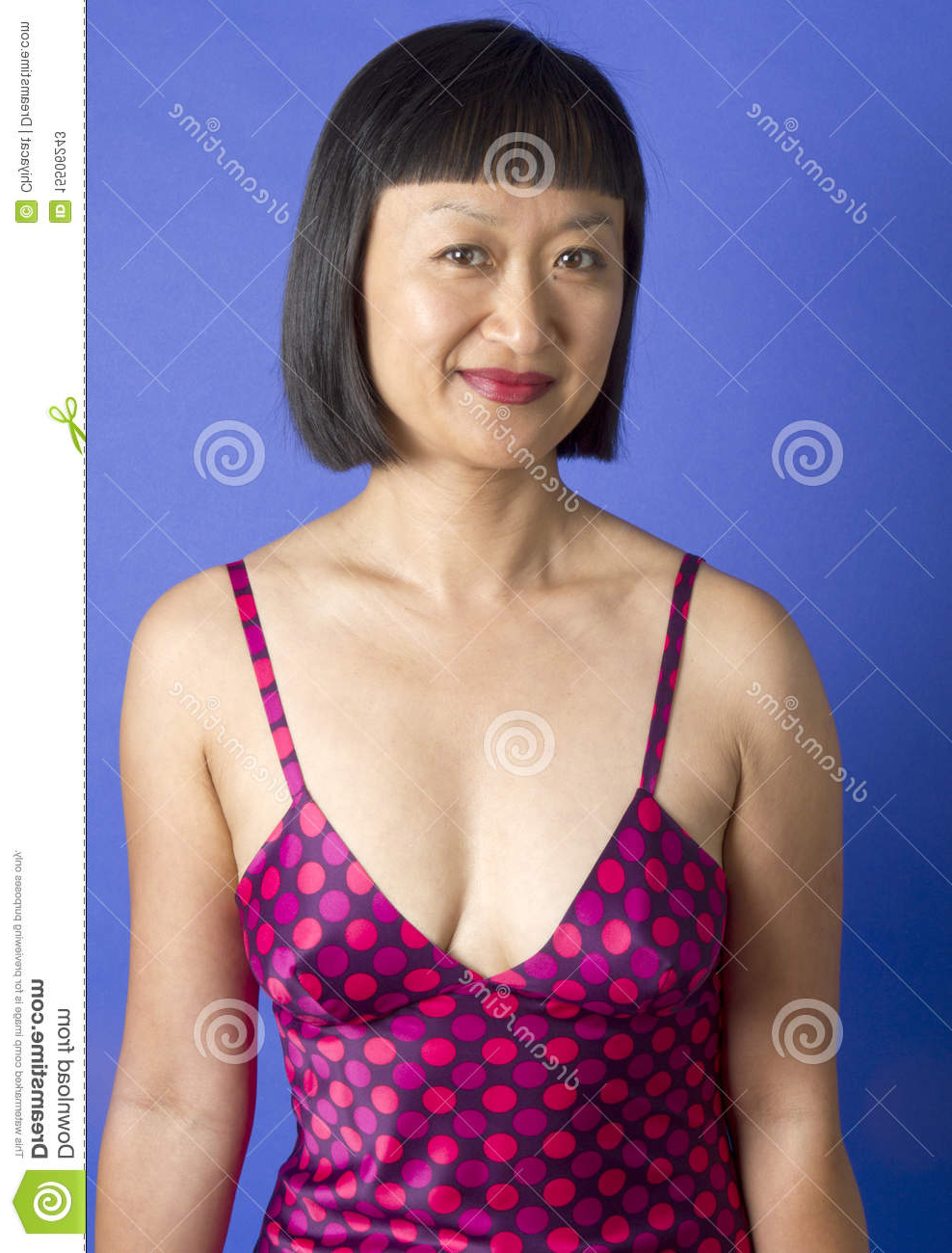 Asian Woman With Short Hair Smiling Stock Image – Image Of With Regard To Short Hairstyle For Asian Girl (View 20 of 25)