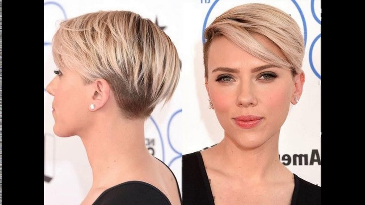 Asymmetric Short Haircut With A Temple Undercut – Youtube Throughout Asymmetrical Short Hairstyles (View 14 of 25)