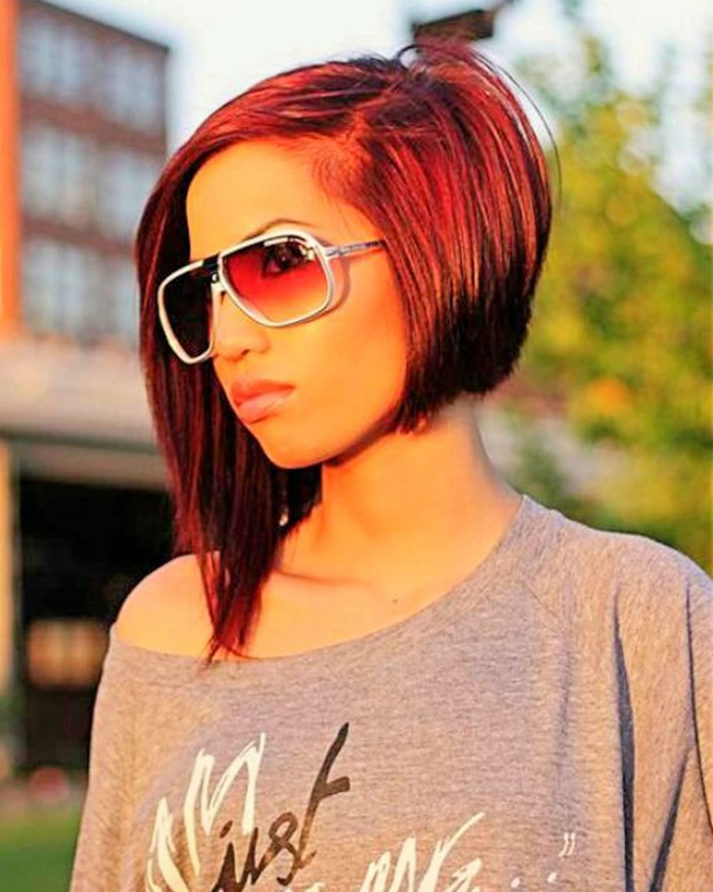 Asymmetrical Short Hair 2018 – 33 Haute Short Hairstyles & Haircuts Intended For Red Hair Short Haircuts (Gallery 16 of 25)