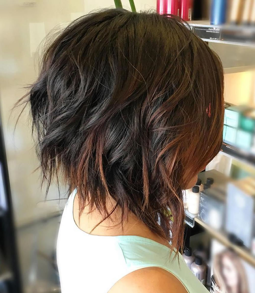 Asymmetrical Short Haircuts With Balayage Highlights 2018 – 2019 Pertaining To Short Hairstyles And Highlights (View 7 of 25)