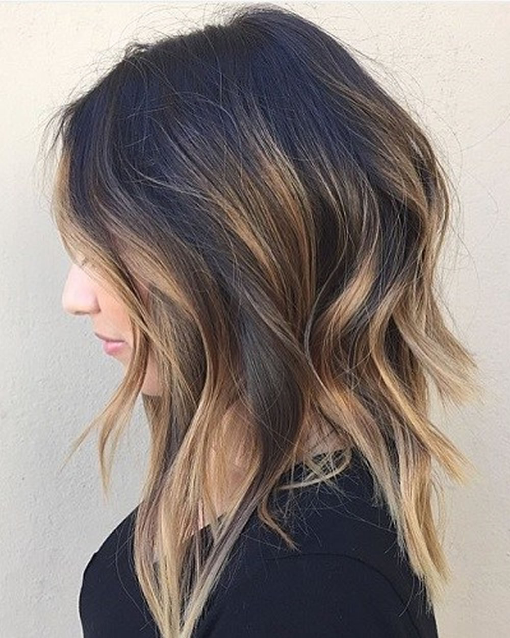 Asymmetrical Short Haircuts With Balayage Highlights 2018 – 2019 Throughout Short Hairstyles And Highlights (Gallery 8 of 25)