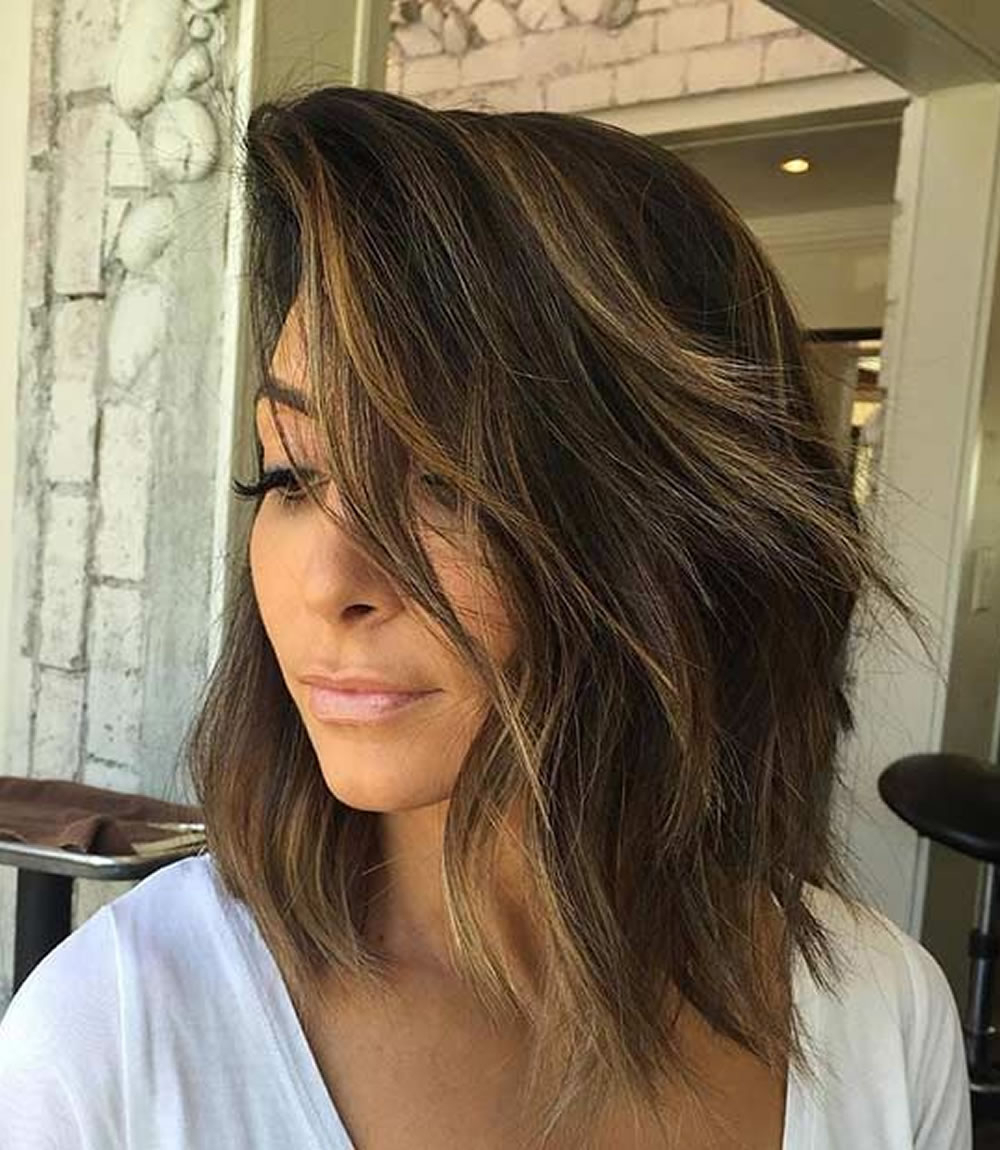 Asymmetrical Short Haircuts With Balayage Highlights 2018 – 2019 Within Short Hairstyles With Balayage (Gallery 14 of 25)