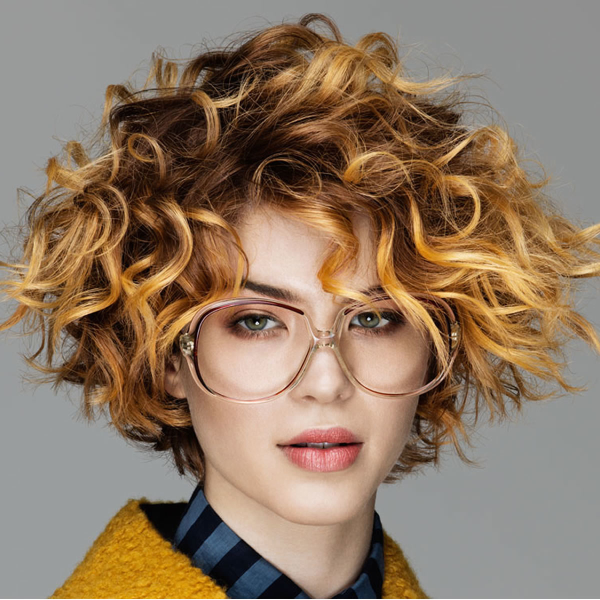 Attractive Brown Ombre Curly Bob Haircuts For Long Faces – Best Regarding Short Haircuts On Long Faces (Gallery 25 of 25)