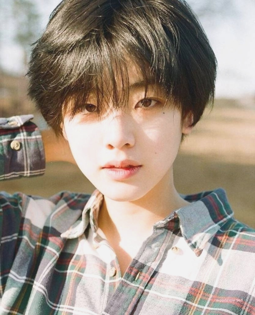 Awesome Korean Short Hairstyle For Round Face Female – Hair Worshipper With Short Hairstyles For Asian Girl (Gallery 9 of 25)