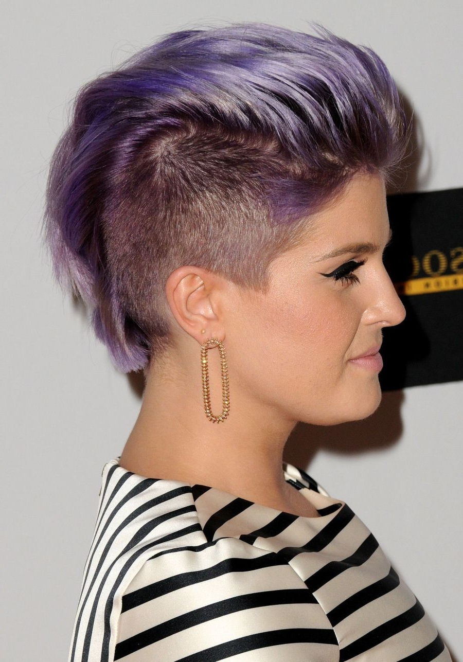 Awesome Mohawk On Kelly Osborne. | Cool Hair | Pinterest | Hair Throughout Kelly Osbourne Short Haircuts (Gallery 3 of 25)